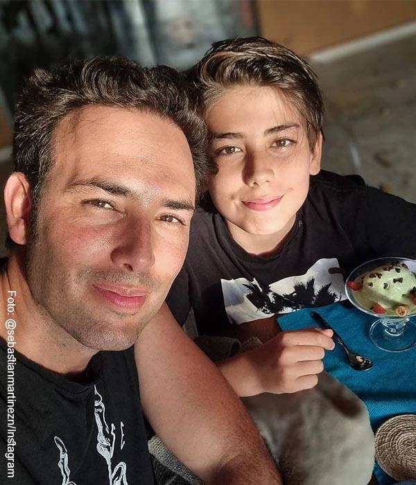 Sebastián Martínez está enamorado de su hijo y enterneció a sus fans