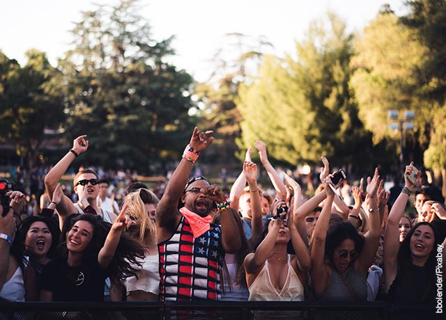 Foto de público en un concierto