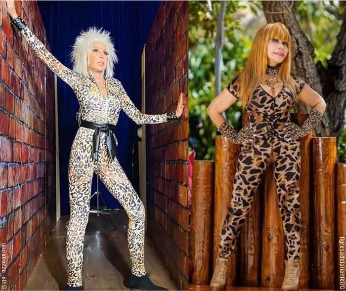 Mosaico de fotos comparando a Laura Bozzo con La Tigresa de Oriente