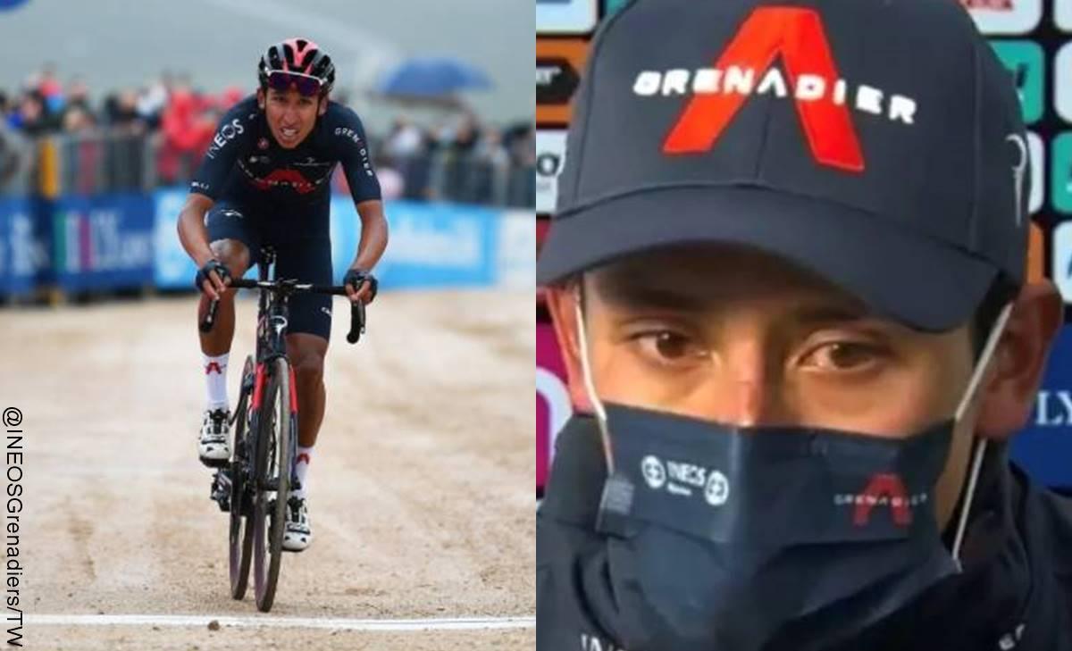 Egan Bernal llora al liderar Giro de Italia tras ganar novena etapa
