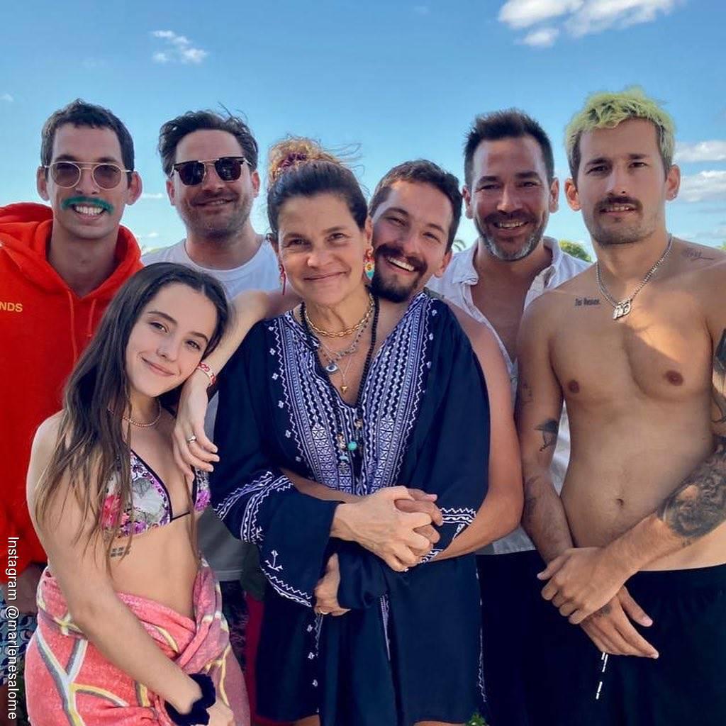 Foto de Marlene Rodríguez esposa de Ricardo Montaner junto a sus hijos