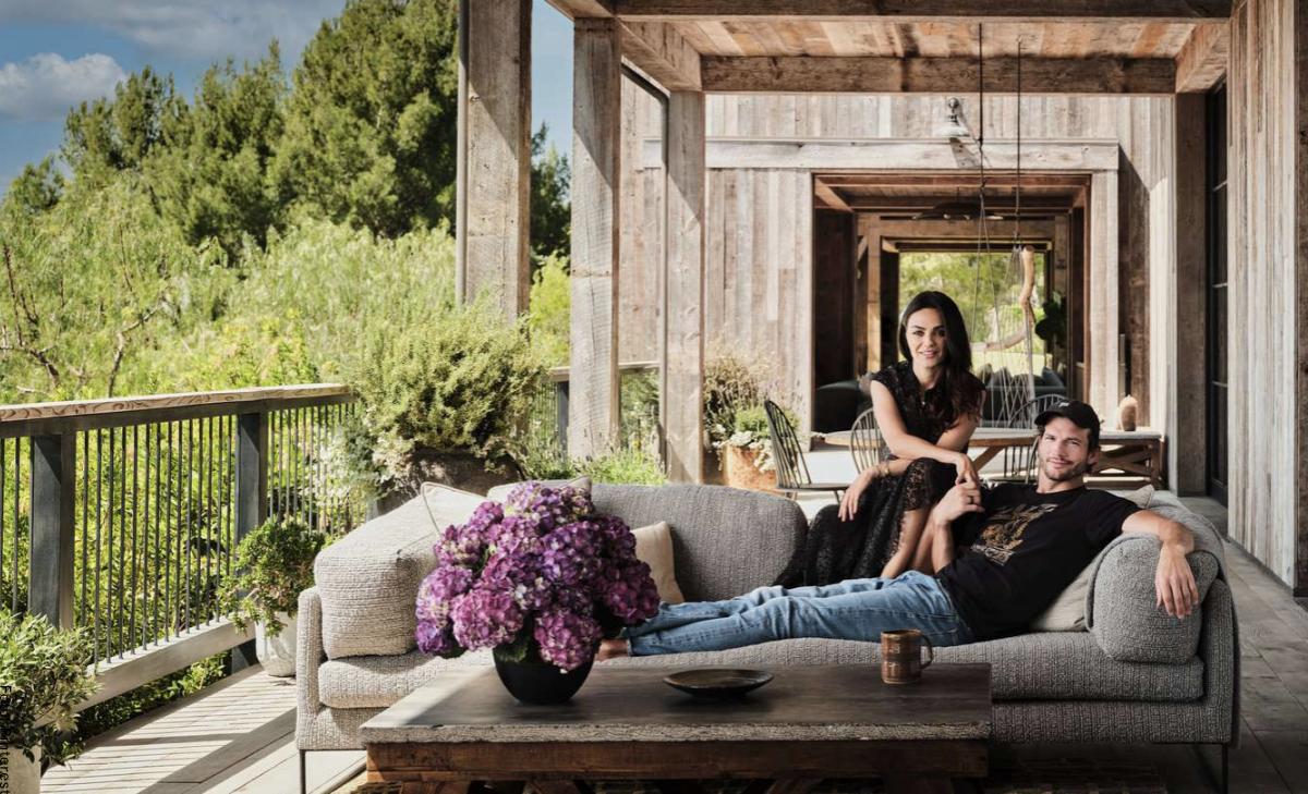 Mila Kunis y Ashton Kutcher mostraron su impactante mansión sustentable