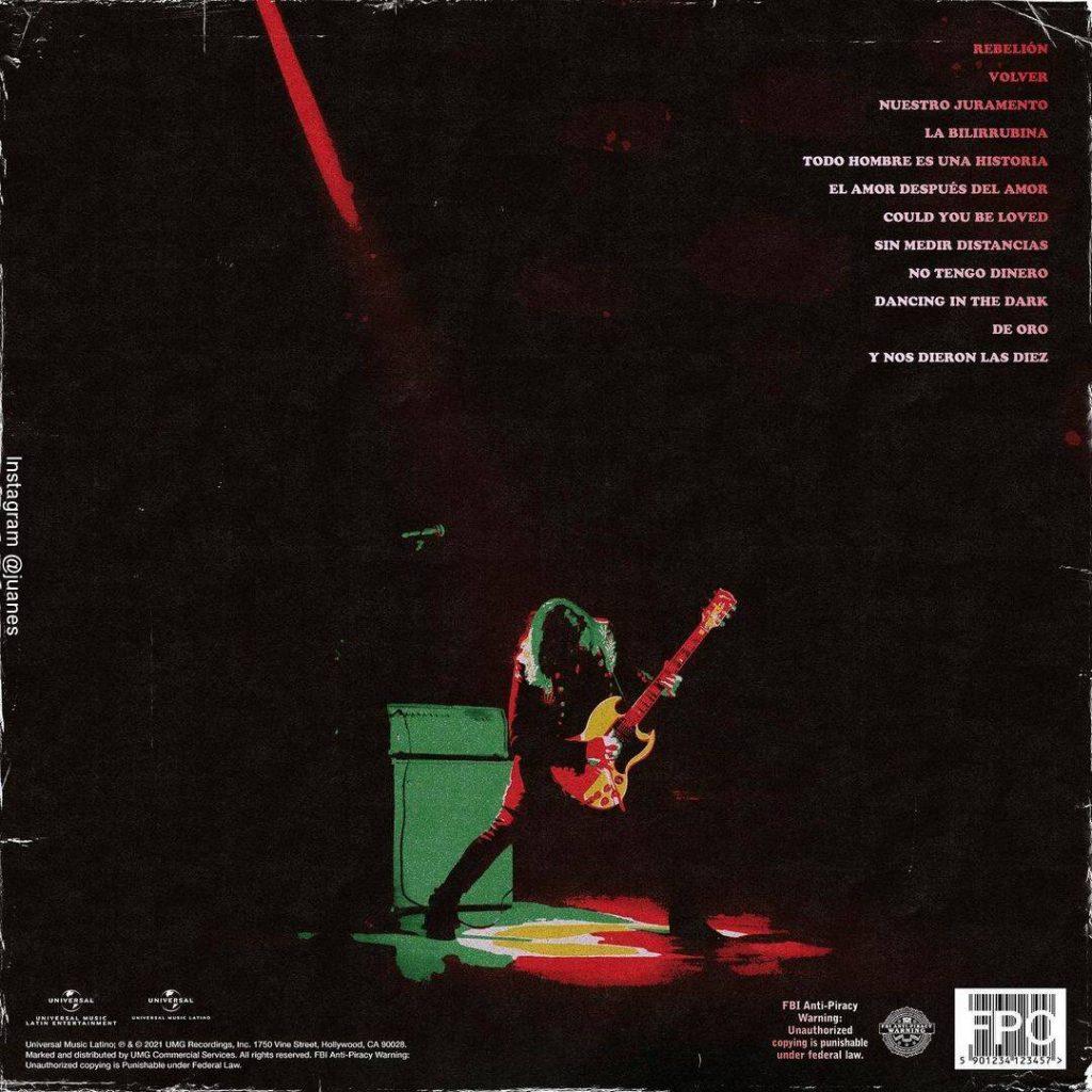 Imagen de la contraportada del álbum Origen de Juanes