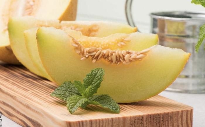 Foto de trozos de melón