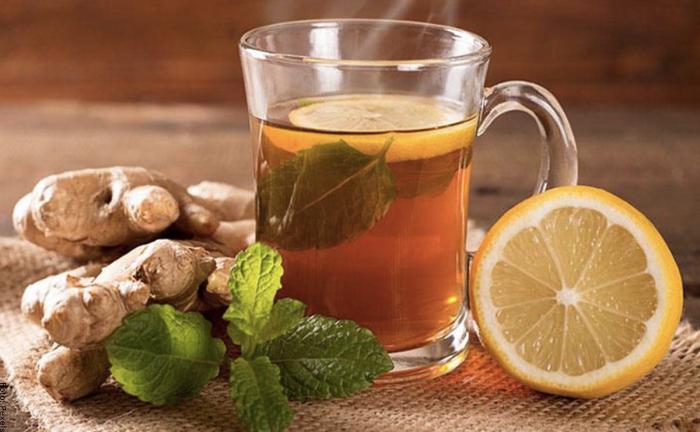 Foto de té de jengibre con limón