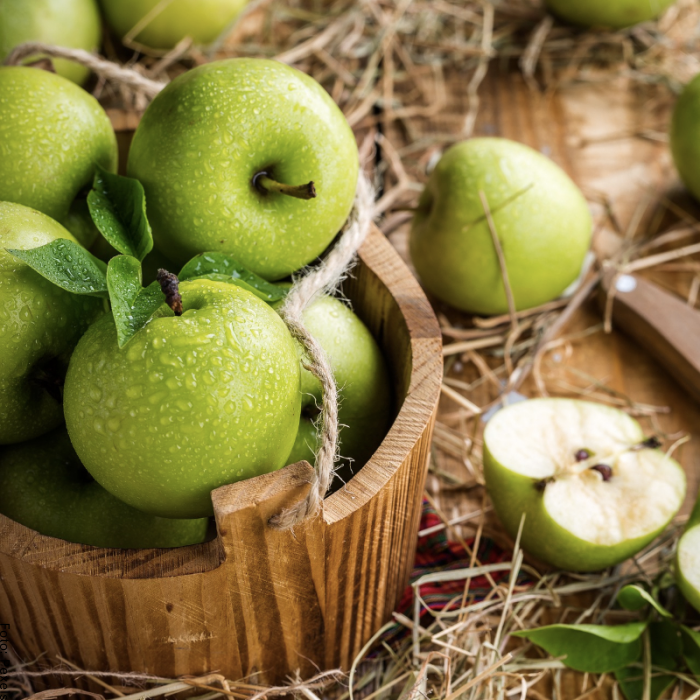Foto de manzanas verdes