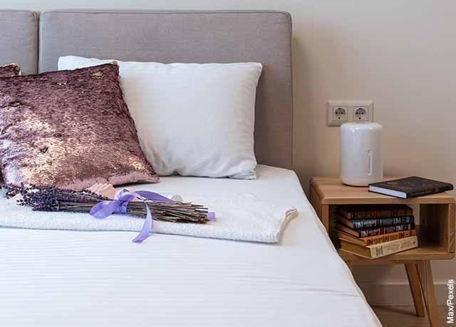 Foto de un cuarto con un ambientador de aire