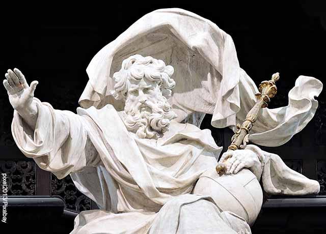 Foto de una estatua de Dios