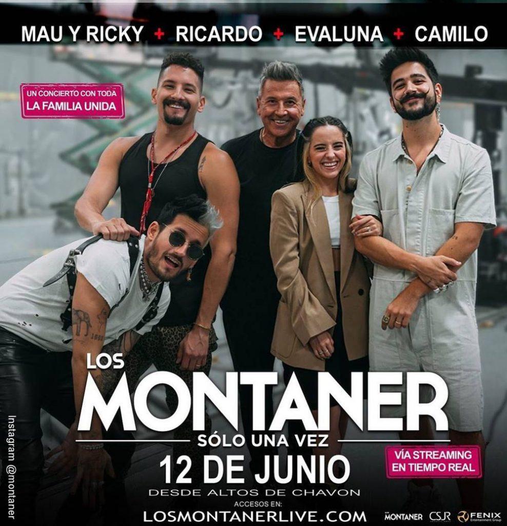 Foto de los Montaner reunidos para promocionar su concierto