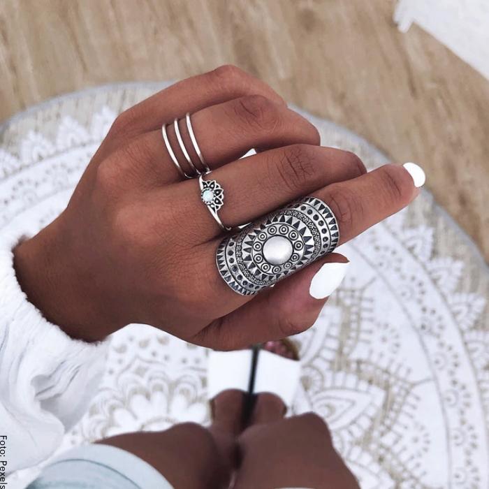 Foto de anillos de plata