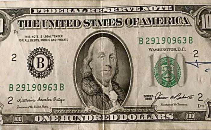 Foto de dólares viejos