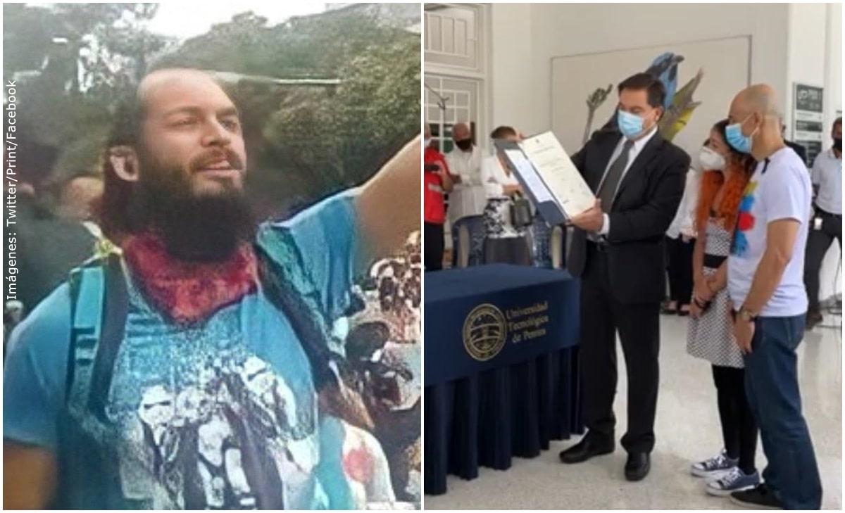 Universidad entregó título póstumo a Lucas Villa durante homenaje