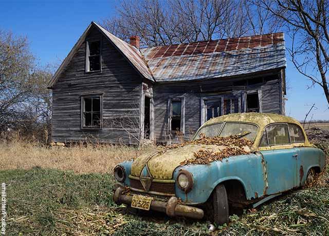 Foto de un rancho abandonado