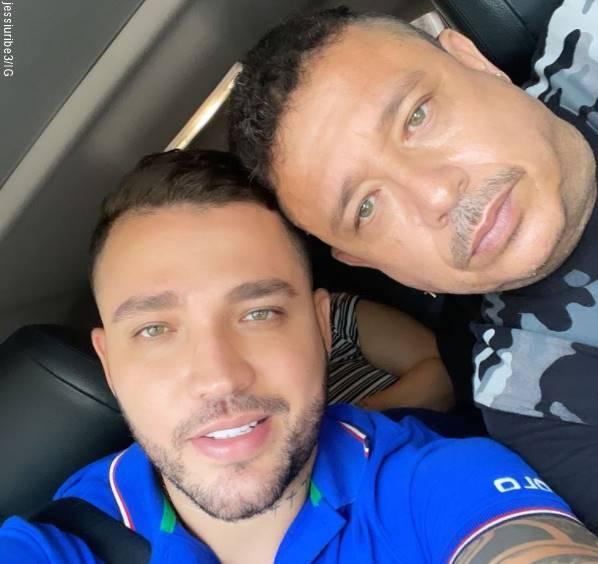 Foto de Jessi Uribe y su papá para Algunos famosos celebraron el Día del Padre con sus fans en las redes