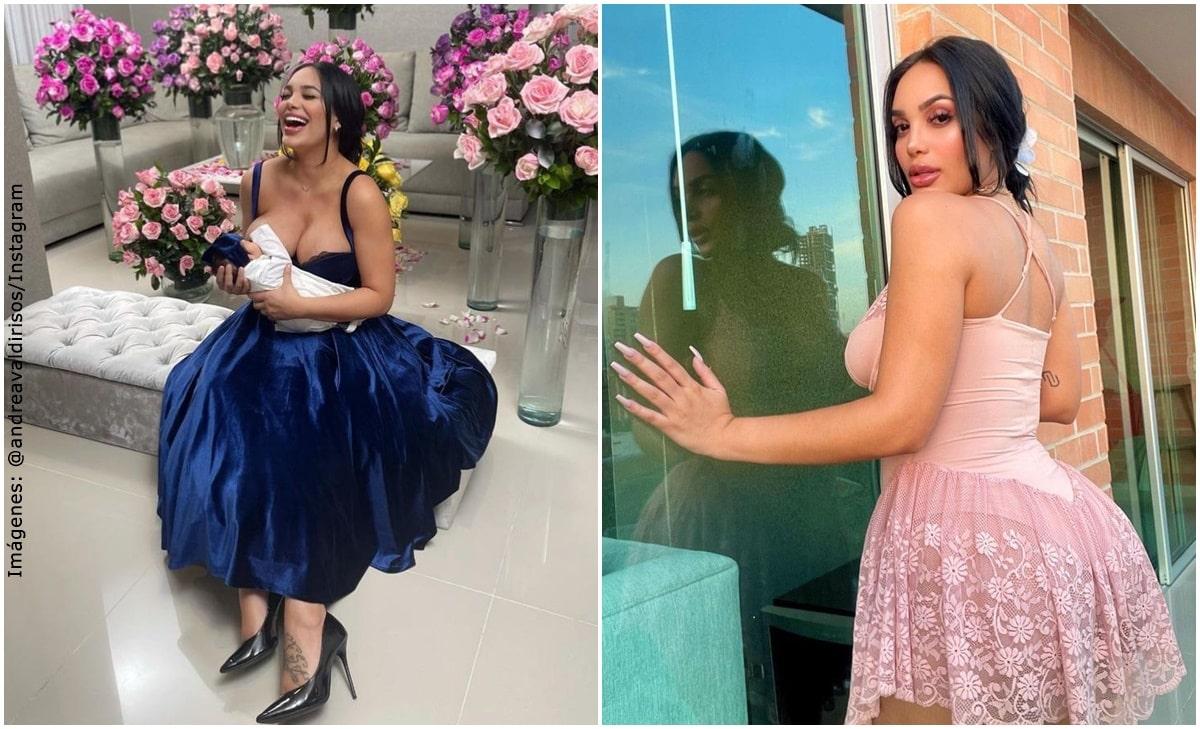 Andrea Valdiri sorprendió con atrevido baile a pocos días de dar a luz