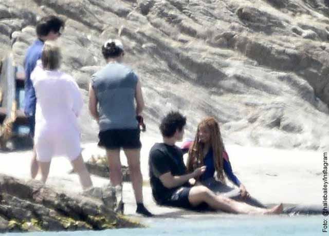 Aparecen primeras fotos del rodaje de la sirenita en su nueva versión