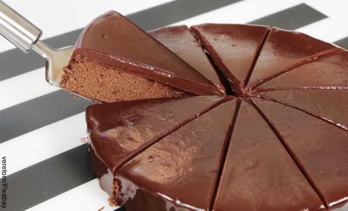 Foto de torta de chocolate