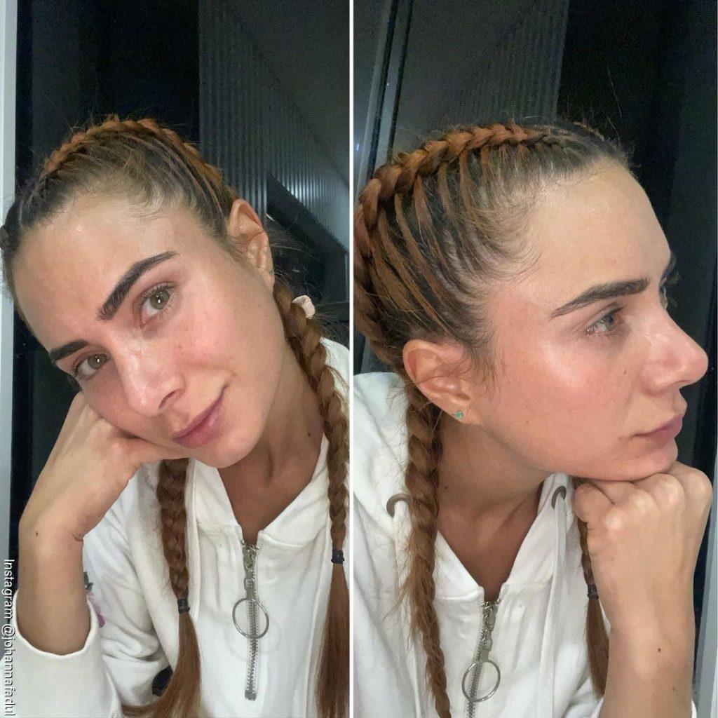 Foto de Johanna Fadul sin maquillaje en su rostro