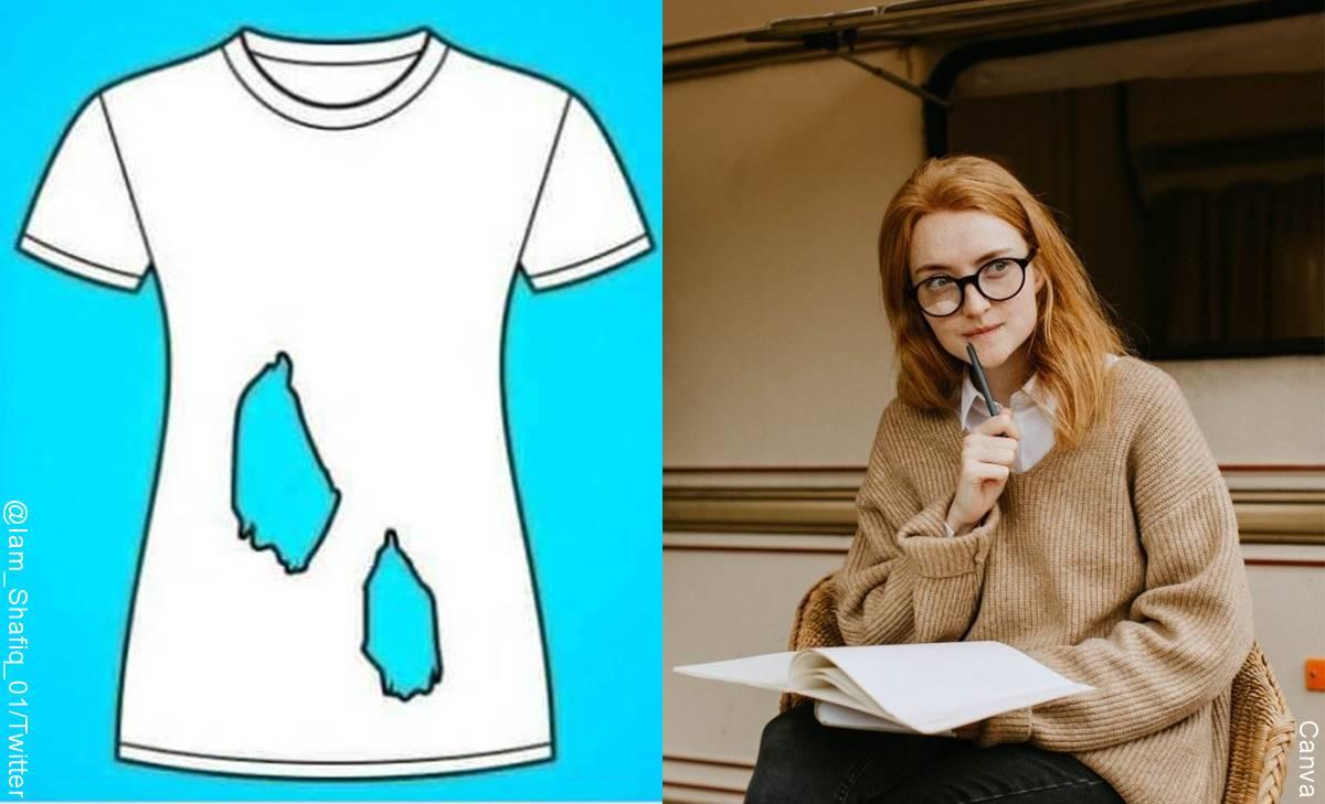 ¿Cuántos huecos tiene esta camiseta? Un reto visual que te pondrá a pensar
