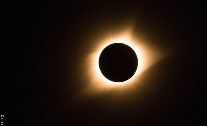 Foto de un eclipse anular de sol