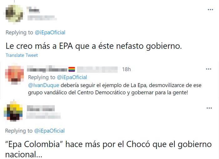 Print de Twitter diciendo que Daneydi Barrera ha hecho más por Colombia que el Gobierno