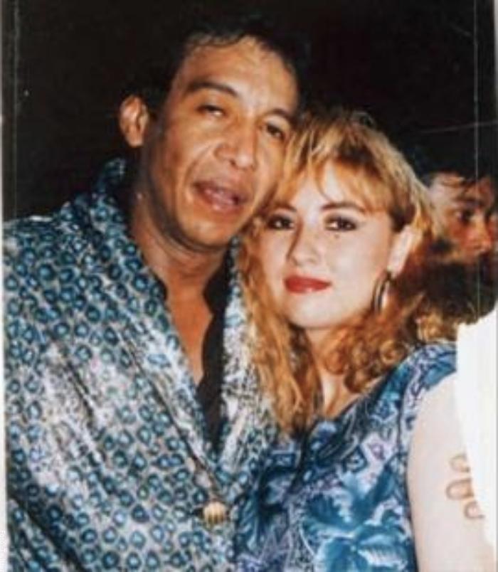 Foto de Diomedes Diaz junto a Doris Adriana Niño