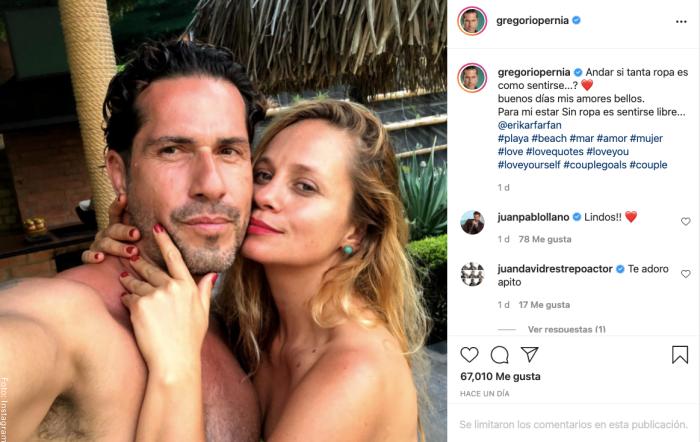 Foto de Gregorio Pernía con su esposa sin ropa