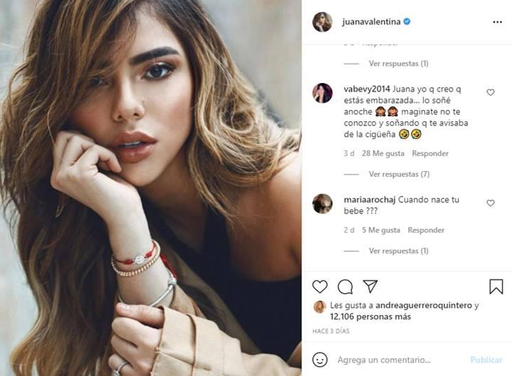 Foto de Instagram de Juana Valentina Rodríguez