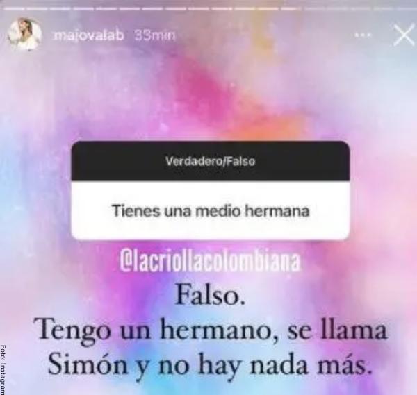 Foto de los comentarios de la hija de Jota Mario Valencia