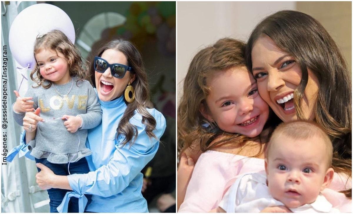 La tierna reacción de la hija de Jessica de la Peña al verla en TV