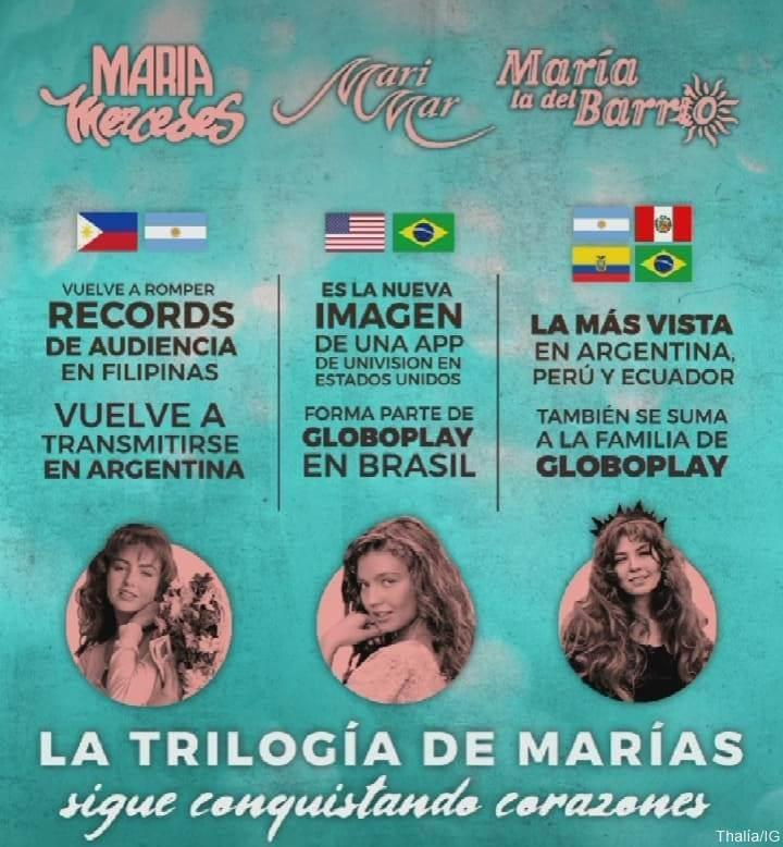 Print de IG de Thalía