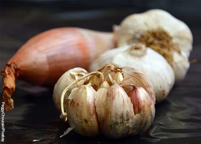Foto de un par de ajos que revela para qué sirve el ajo en ayunas