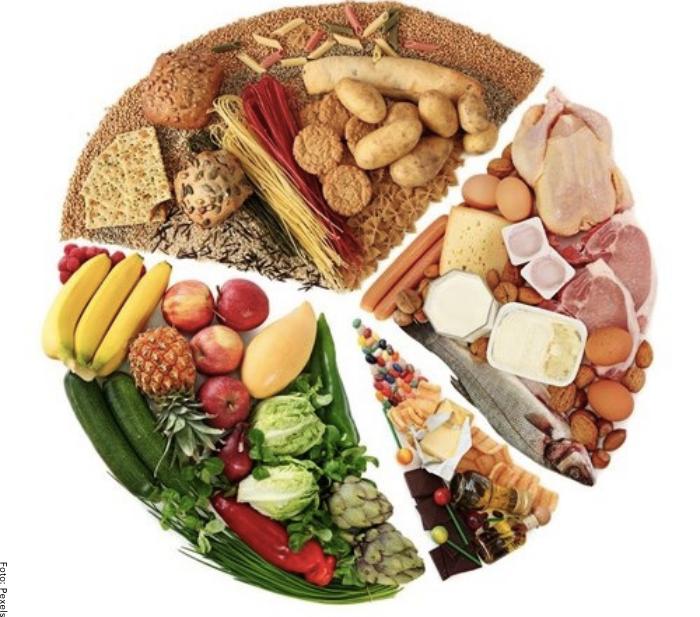 Foto de varios carbohidratos