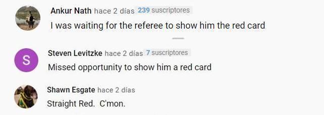 Print de comentarios en Youtube