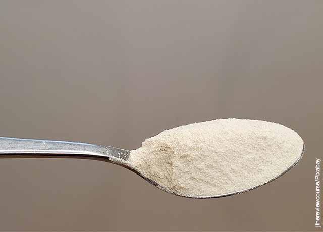 Foto de una cuchara de harina