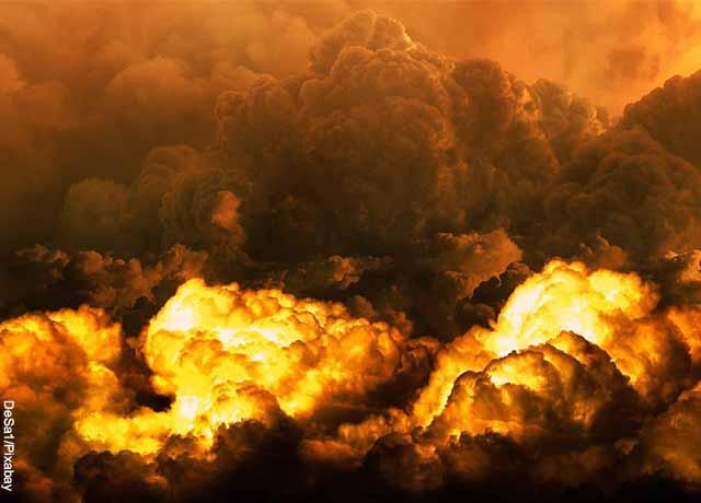 Foto de una explosión