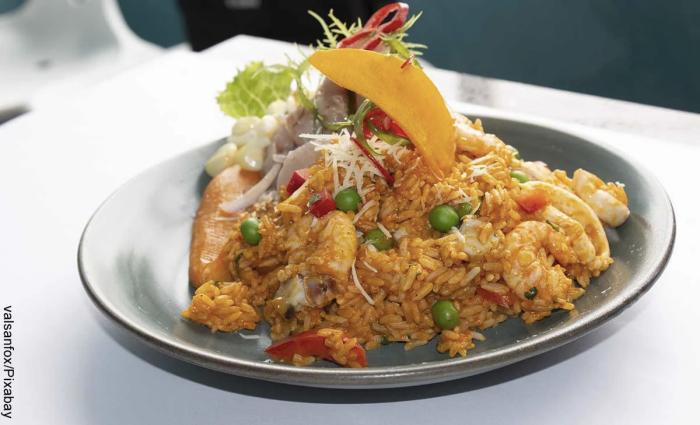 Foto de arroz con camarones