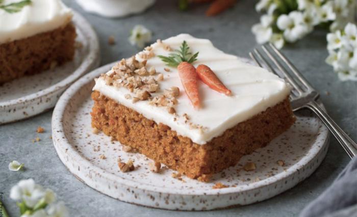 Foto de torta de zanahoria