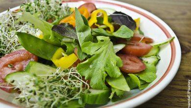 Foto de un plato vegetariano que ilustra las recetas de ensaladas de lechuga