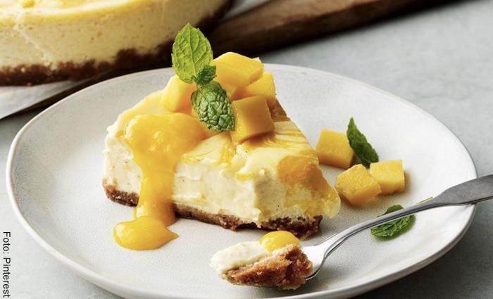 Foto de cheesecake de mango