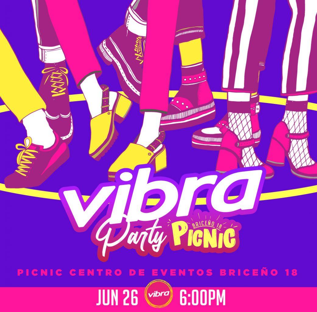 Posteo de la #VibraParty en formato Picnic