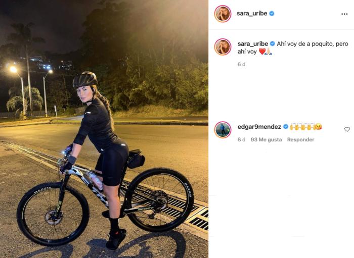 Foto de los comentarios de nuevo novio de Sara Uribe