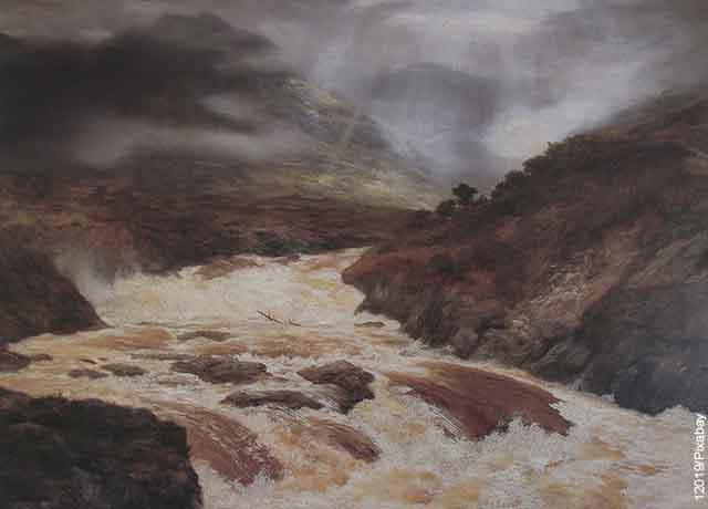Foto del cauce de un río que muestra lo que es soñar con avalancha