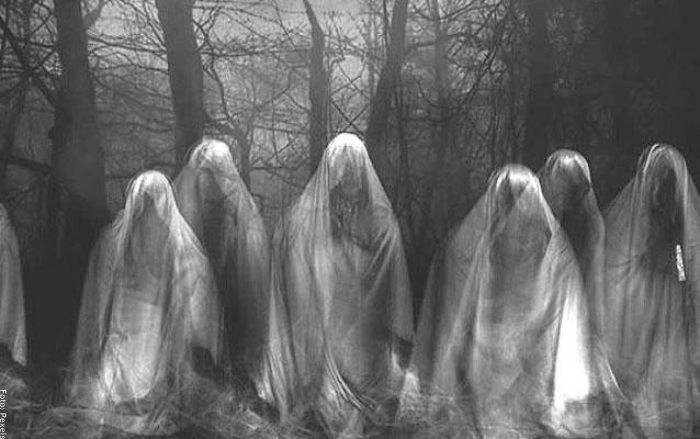 Foto de muchos fantasmas