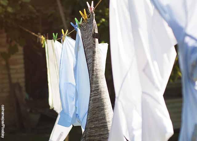 Foto de camisas colgadas con ganchos que muestra qué es soñar con lavar ropa