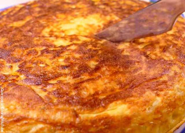 Foto de una tortilla horneada