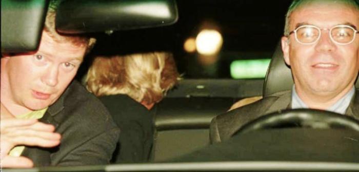 Foto de Lady Di en el carro antes de morir