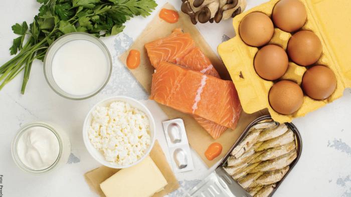 Foto de alimentos ricos en vitamina D3