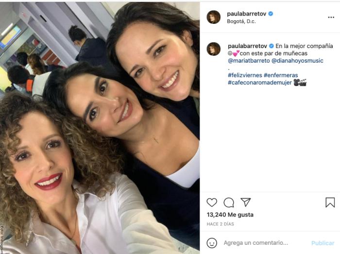 Foto de Paula Barreto, Diana Hoyos y María Teresa Barreto