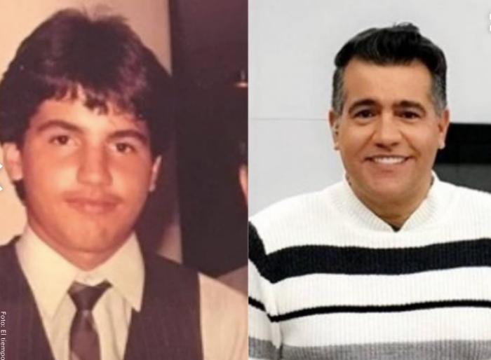 Foto antes y después de Carlos Calero